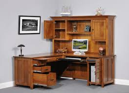 computer desk with hutch also with a small black computer desk