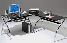 Techni Mobili Graphite Frosted Glass L Shaped Computer Desk Techni Mobili Tempered Glass Computer Desk Furniture Rug Techni