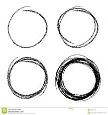 set of hand drawn scribble circles stock vector image 45001966