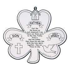 5 25 for a dozen on cardstock color your own shamrock trinity