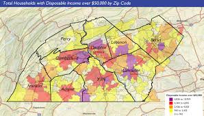 Pennsylvania Counties Map by Wealth Facts Disposable Income In Central Pennsylvania Moretidbits