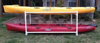pvc storage rack for kayak