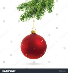 vector christmas decoration isolated on white stock vector