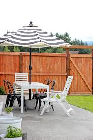 outdoor table umbrella and stand patio umbrella stand tutorial
