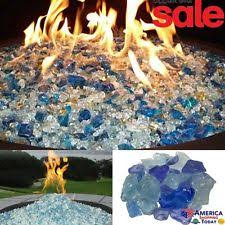 Glass Rocks For Fire Pit by Az Patio Heaters Fire Pit Glass In Bahama Blend 10 Pounds Rglass