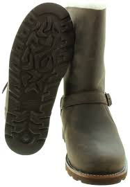 ugg australia noira chestnut sheepskin ugg noira buckle calf boots in brown in brown