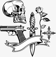 and vector skull gun skull gun gun png and