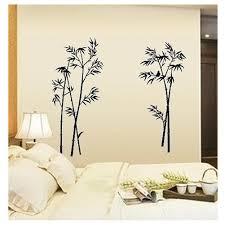 new bamboo mural craft art black wall sticker decals home
