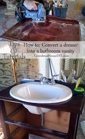 Bathroom Sink Cost - how to convert a dresser into a bathroom vanity tip junkie