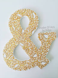 Monogram Letters Home Decor by 9 Personalized Henna Wooden Letters Henna Letters