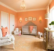 coral walls nursery traditional with mirrored dresser paper shade