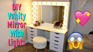 How To Make A Makeup Vanity Mirror Diy Vanity Mirror With Lights Under 150 Youtube