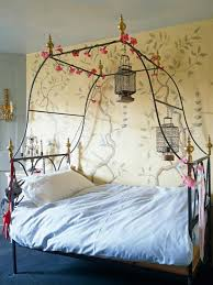 lovely bedroom decorating with trees wall painting dweef
