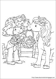 strawberry shortcake coloring pages free kids