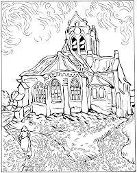 kids n fun com 30 coloring pages of vincent van gogh