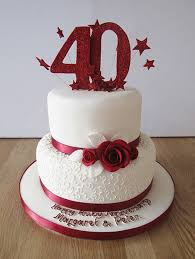 ruby wedding cakes 9 ruby anniversary cakes photo wedding anniversary cake ideas