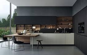 cuisine moderne et noir cuisine noir et bois fabulous prometteur cuisine plan travail noir