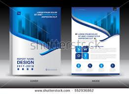 annual report brochure flyer template white cover design
