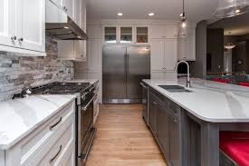 grey and white kitchen u2013 before and after kitchen cabinets and