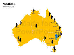 map of austrilia australia map template for powerpoint