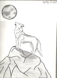 wolf howling at moon by hnm114 on deviantart
