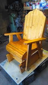 Outdoor Patio Pallet Furniture - glider pallet chair 101 pallets