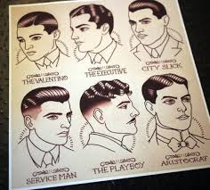 beer and haircuts from the 1920s 1920 s gentlemen s hairstyle guide from parlor tattoo prints