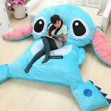 Beanbag Bed Dorimytrader 220cm X 150cm Japan Anime Stitch Beanbag Soft Plush