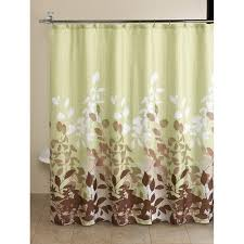 Green And Brown Shower Curtains Mainstays Green Botanical Leaf 13 Bath In A Bag Set Shower