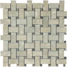 shop anatolia tile seagrass basketweave mosaic limestone wall tile