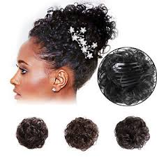 bun scrunchie vogue hair curly wig clip in hair bun hair ponytail