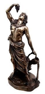 dionysus greek god statue 11 5 tall greek god dionysus bacchus statue wine ecstacy patron