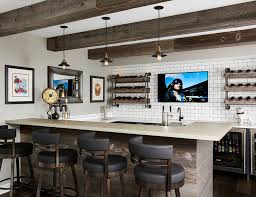 Home Upgrades Houzz Basements Good Home Bar Design Ideas Remodels U Photos With