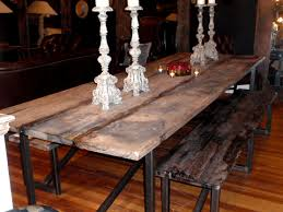 attractive long wood dining table best 20 reclaimed wood dining