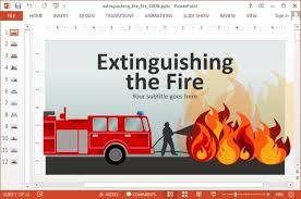 animated extinguishing fire powerpoint templates