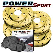 lexus is300 brake pads brake rotors full kit powersport gold drilled slotted u0026 pads