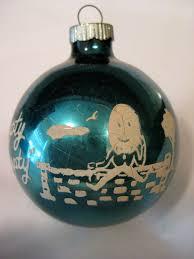 humpty dumpty vintage shiny brite glass ornament