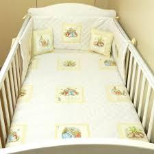 rabbit crib bedding beautiful white beatrix potter petter rabbit baby bedding