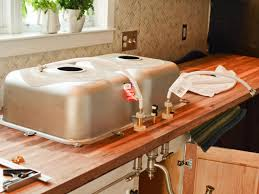 how to install butcher block countertops do it yourself butcher block kitchen countertop hgtv