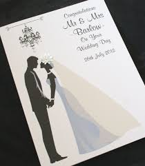 congratulations on wedding card large handmade personalise groom congratulations wedding