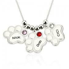 Personalized Paw Print Necklace Personalized Mother U0027s Day Jewelry Gifts