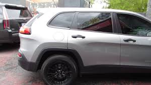 2016 jeep cherokee sport white 2016 jeep cherokee with 17 inch black custom rims tires youtube