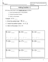 Free Math Facts Worksheets Math Free Single Digit Addition Worksheets Doublesplusoneintro