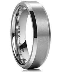 beveled ring king will basic 6mm wedding band for men tungsten carbide