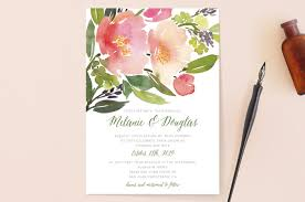 wedding invitations floral watercolor floral wedding invitations by yao cheng minted