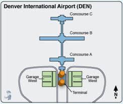 denver terminal b map home airports