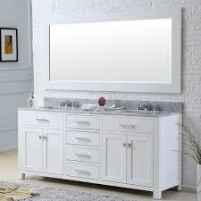 Bathroom Vanity 72 Double Sink by Water Creation Madison 72 Inch Solid White Double Sink Bathroom