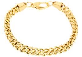 mens gold bracelet links images Mens gold plated stainless steel franco link chain bracelet jpg