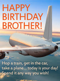 today is your day happy birthday wishes card for brother