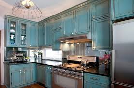 Distressed Kitchen Cabinets Blue Color Distressed Kitchen Cabinets Designs Ideas And Decors